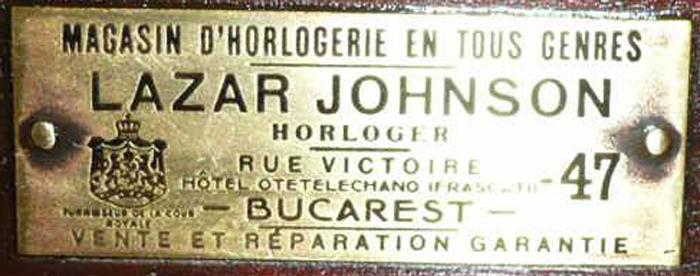 eticheta pendula - Lazar Johnson | calea Victoriei nr. 47