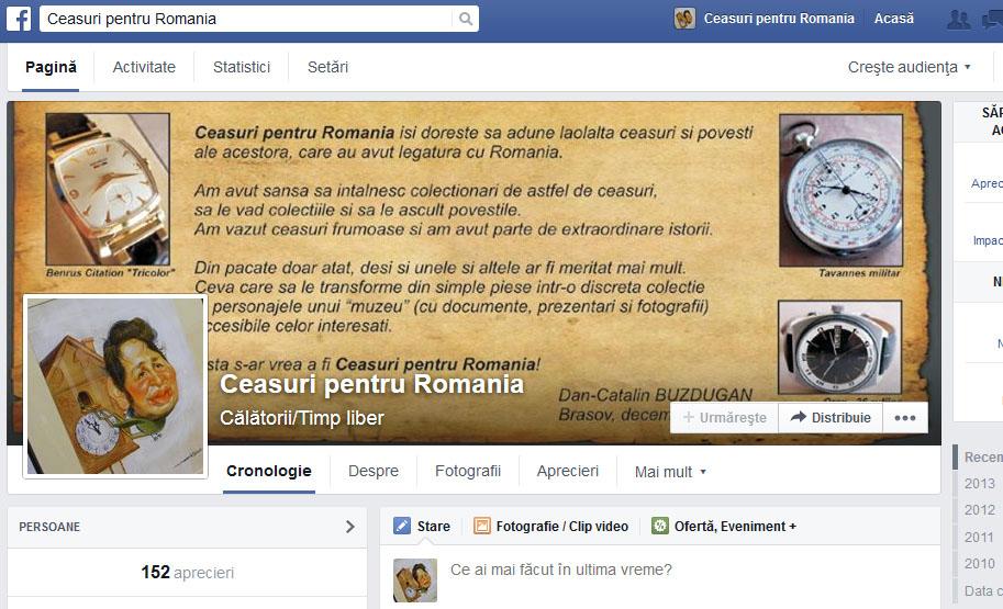 Facebook | Ceasuri pentru Romania