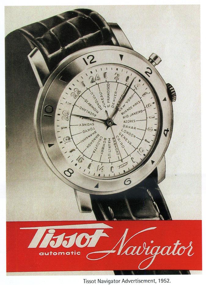 reclama Tissot Navigator | 1952 (sursa: Estelle Fallet)