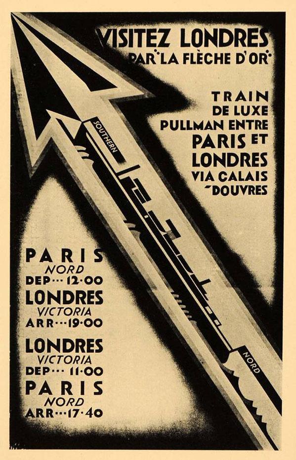 linia feroviara Fleche d'Or | afis anii '920