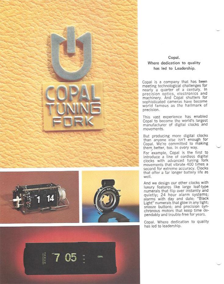 pliant prezentare produse Copal (anii 1970-1980) | pag.2