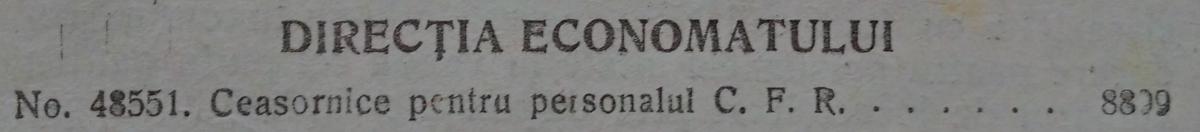 cuprins Foaia Oficiala CFR | 1925