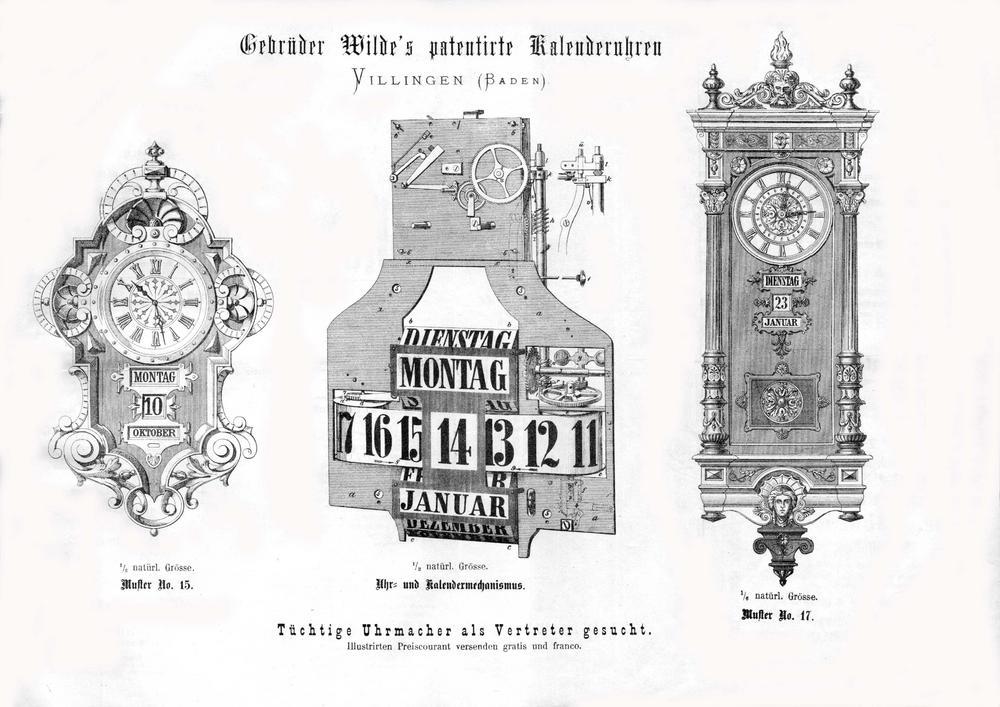 Gebrüder Wilde - pendula calendar