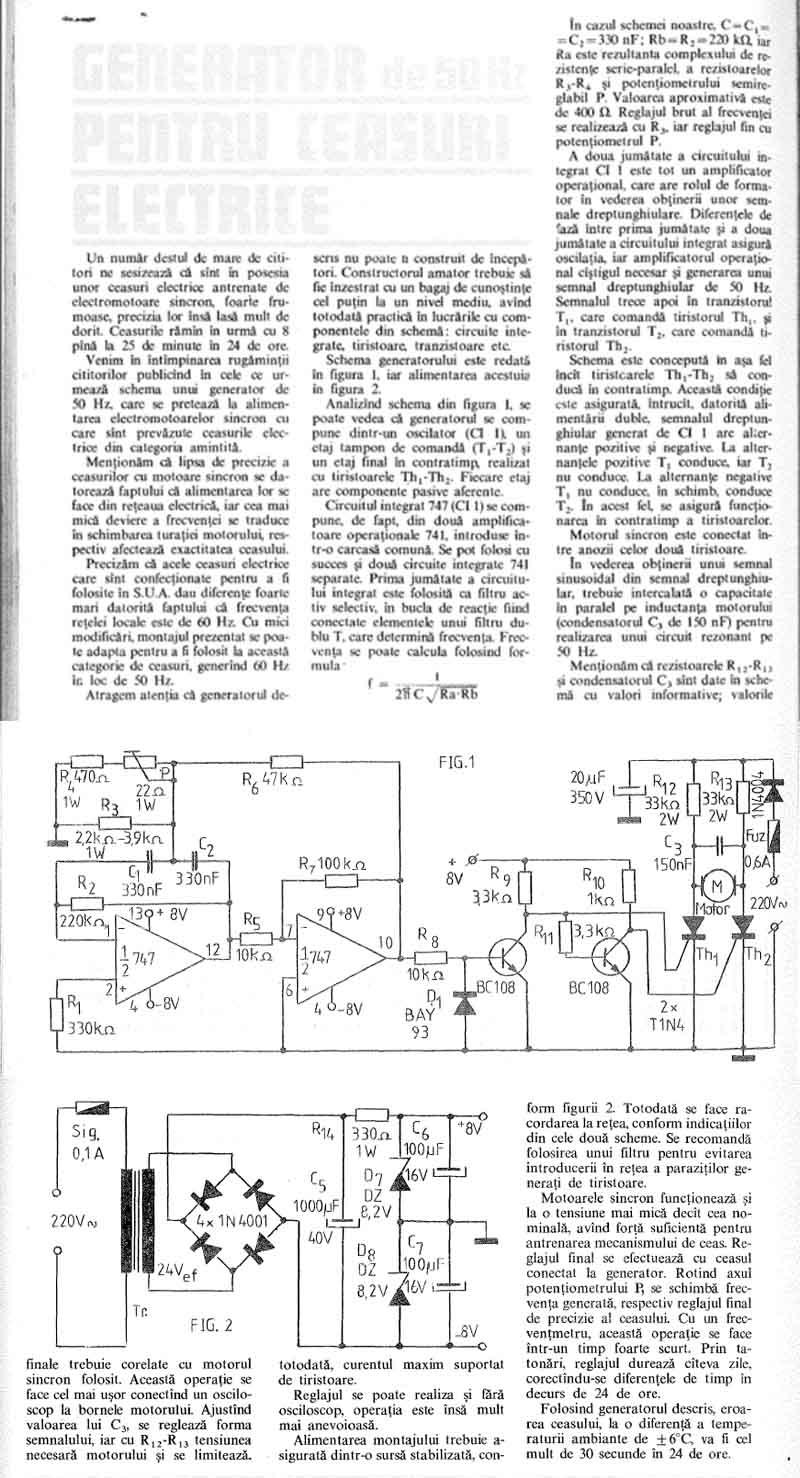 specificatie generator frecventa | ceas Cronos | revista Tehnium