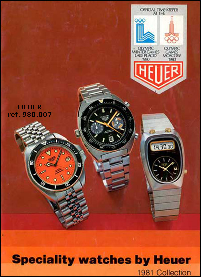 Heuer | 1981 catalogue