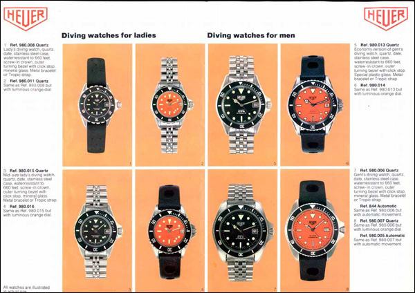 Heuer|1981 catalogue|ref. 980.xxx