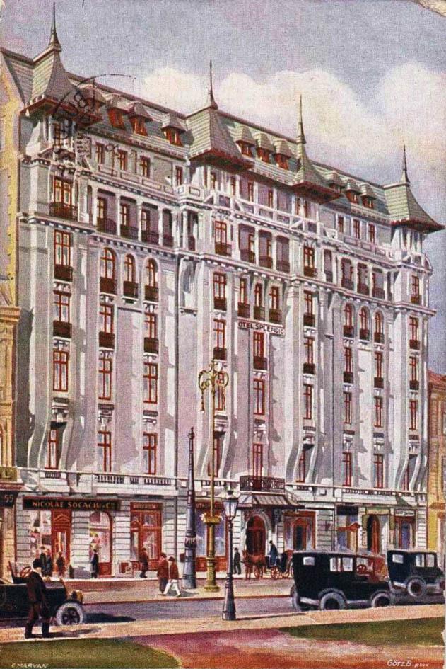 hotel Splendid 1925 - Calea Victoriei nr. 57 (fosta nr. 71) | locatia sucursalei Bucuresti a CFRNA