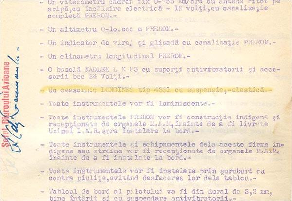 [26] IAR-80 | Lista echip. bord