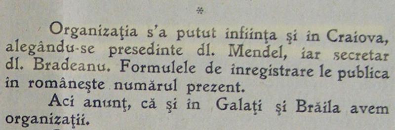 infiintarea organizatiei Craiova | Asociatia Bijutierilor si Ceasornicarilor | in Orologiul, an V, nr. 6, 1926
