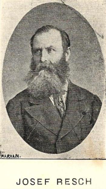 """Josef Resch in """"Fruntasii Comerciului si Industriei"""" (1906)"""