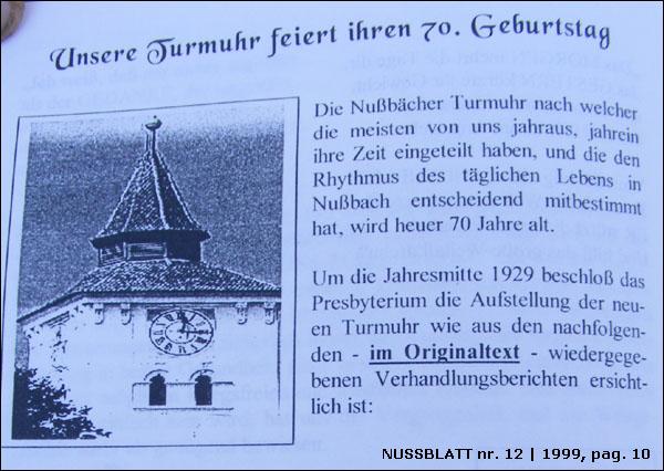 Nussblatt nr.12|1999, pag.10