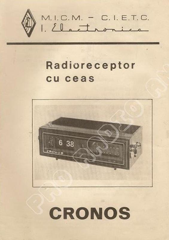 manual Cronos | Electronica Bucuresti (1979)