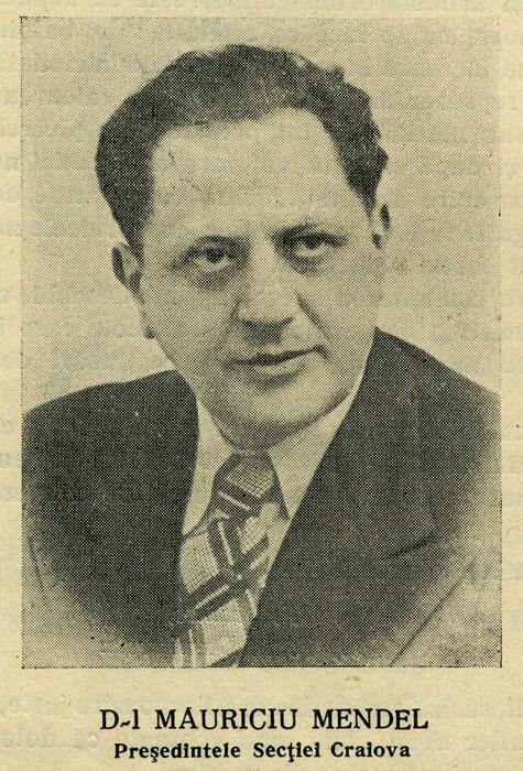 Mauriciu Mendel | Moisi A. Mendel Fii (Craiova | 1938)