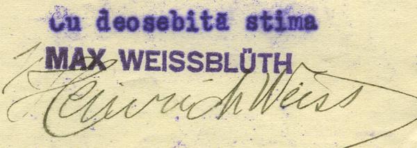 parteneriat Max Weissbluth - Heinrich Weiss | 1930-1932