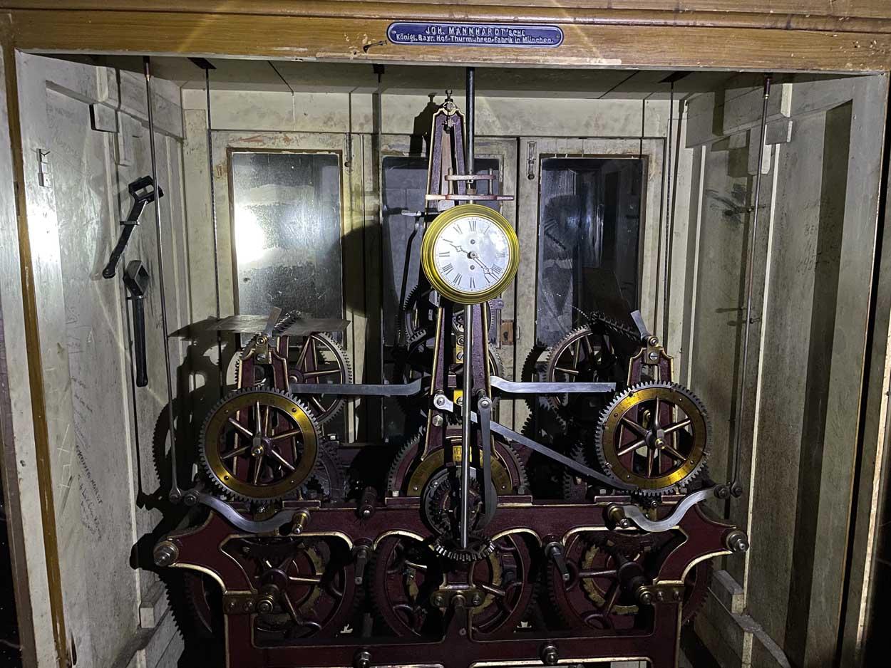 Castelul Peles - ceas de turn Johann Manhardt (mecanismul) | 1907