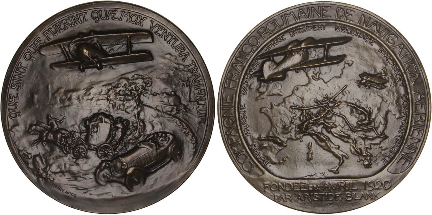 medalie noiembrie.1922 | inaugurare linie Paris-Constantinopol | Henry Nocq