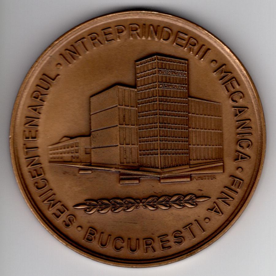 medalie aniversara Mecanica Fina 50 ani (1925-1975) - revers
