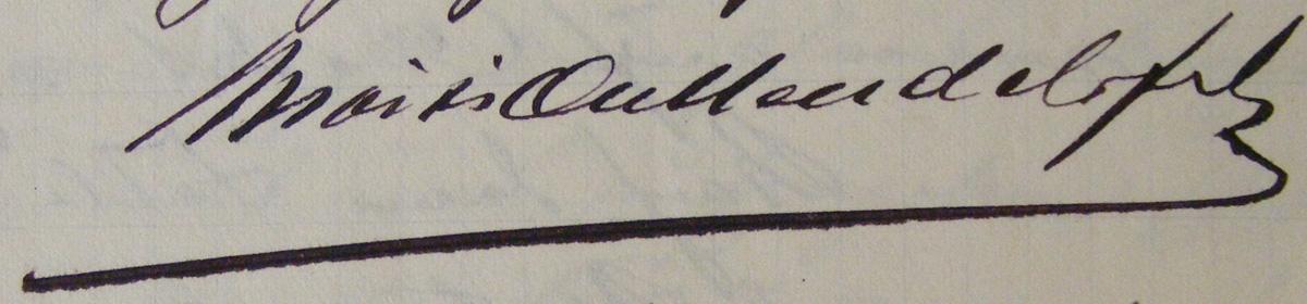 semnatura Moisi A. Mendel | 1904