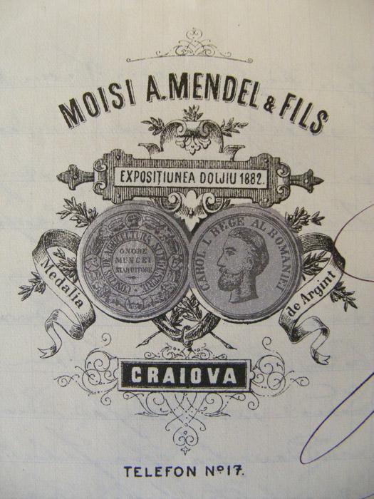 antet Moisi A. Mendel si Fiil - Craiova