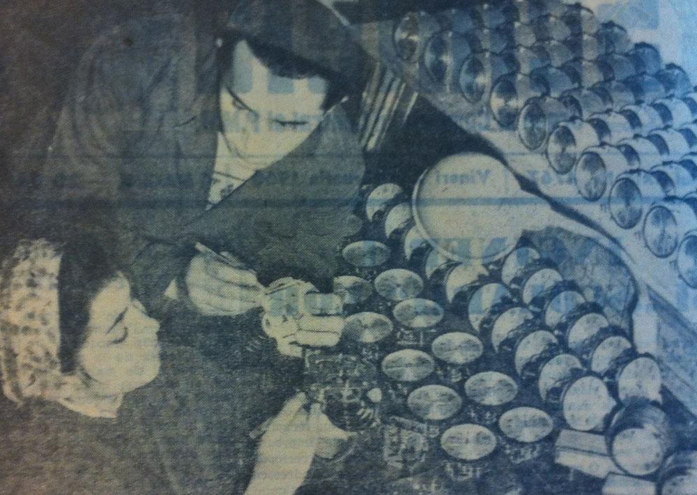 montatori ceasuri | Precizia Arad | foto: Scanteia 1960