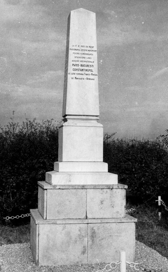 monument C.F.R.N.A. 12.11.1922 | Bucuresti - Baneasa (sursa foto: Muzeul Aviatiei)