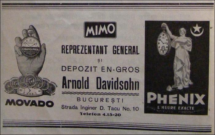 reclama Movado | 1937
