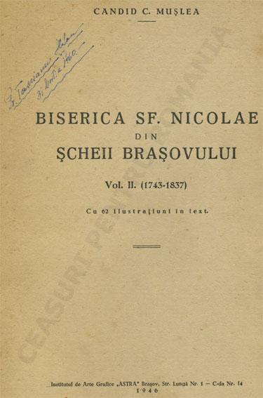 Candid C. Muslea | Biserica sf. Nicolae din Scheii Brasovului (vol.2 | 1743-1837)