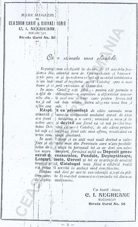 Catalog C.I. Negreanu | p.3