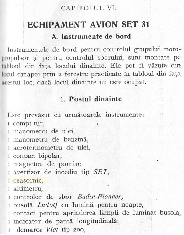 Notita Tehnica | SET-31 / 4 / 41 | Capitol 6.1