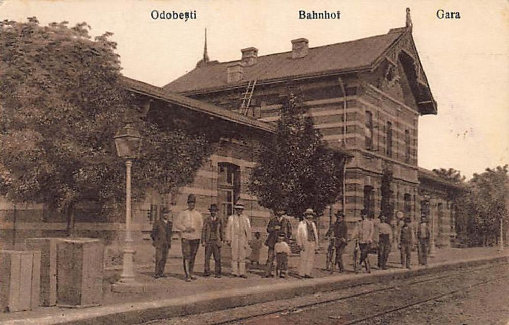 gara Odobesti | carte postala 1921