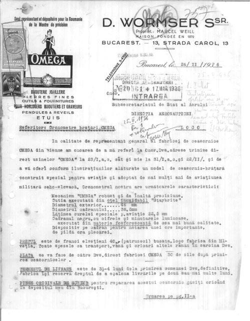 offer Omega Pilot 1936