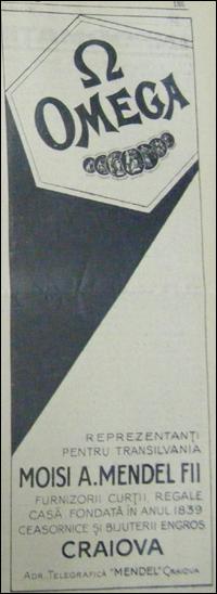reclama Omega | 1938