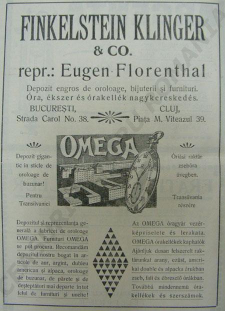 Eugen Florenthal | Omega in Romania | 1922