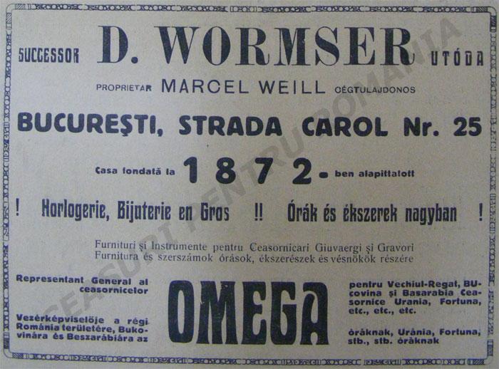 D. Wormser  | succesor Marcel Weill - 1923