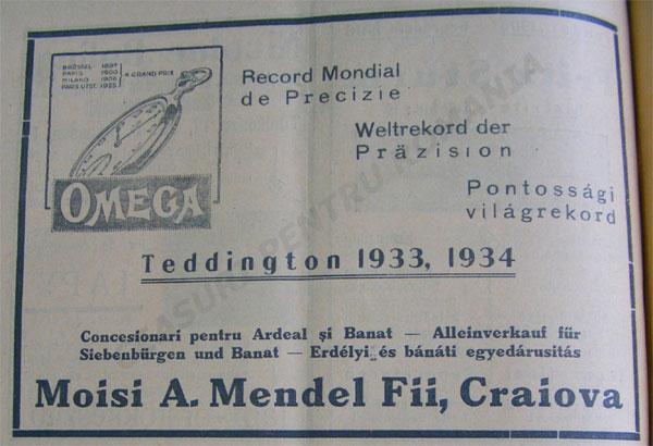 reclama Orologiul 1935-1936