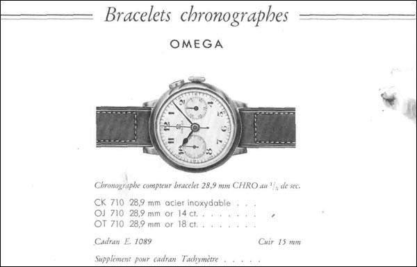 OMEGA 1937 | model CK 710