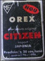 OREX - no. 96/1998 contract