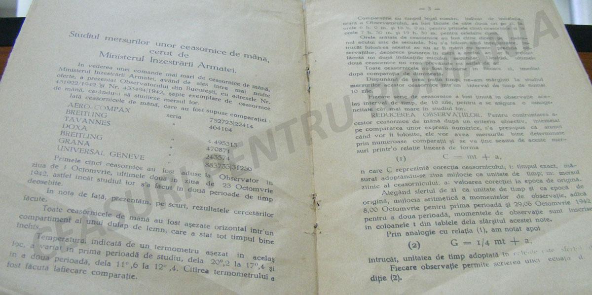 G. Petrescu | studiu ceasornice (1943)