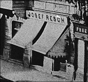 pravalie Casa Resch (detaliu) | calea Victoriei (foto: Carol Popp de Szathmari | 1875)