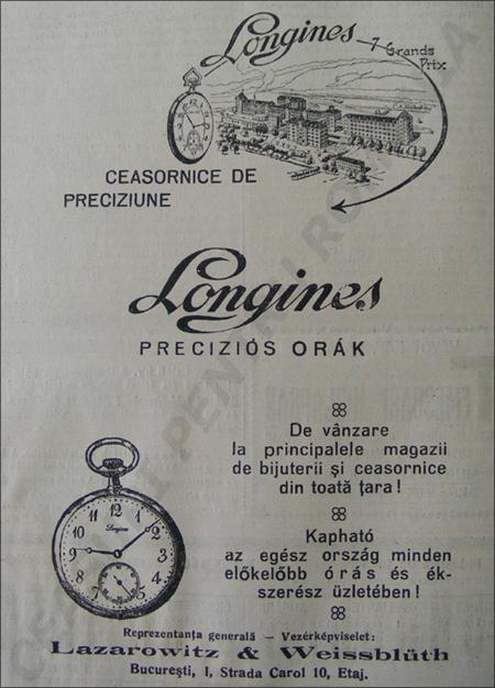 Orologiul Longines | 1929
