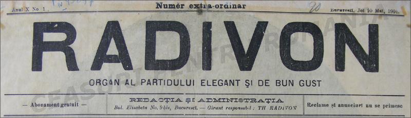 Radivon | Organul - 1901