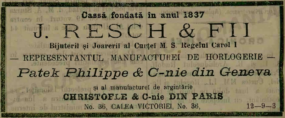 reclama Patek | Resch | 1889