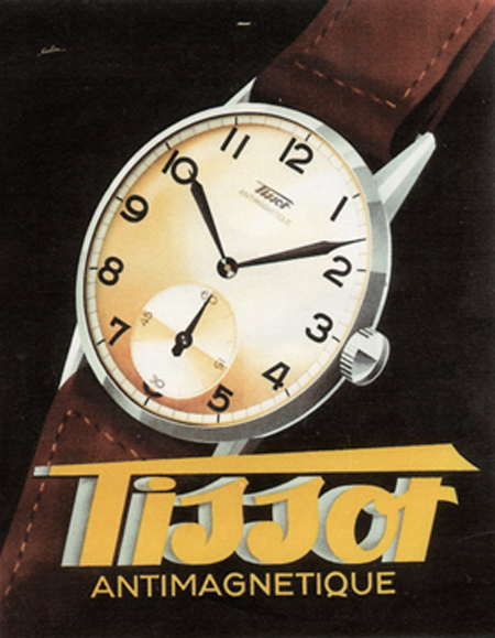 reclama Tissot Antimagnetique | anii '930