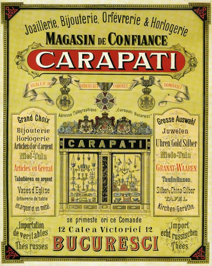 reclama Carapati | aprox. 1881-1890 (prezentare prin amablitatea - Daniel Cosmin Obreja)