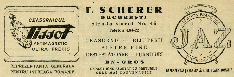 Tissot | reclama Revista Asociatiei Ceasornicarilor | 1937-1938