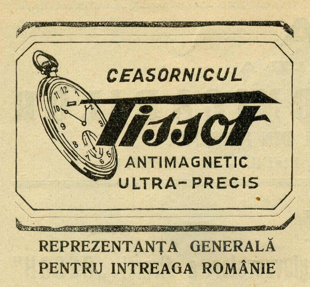 reclama Tissot - Gazeta Ceasonicarilor | anii '930