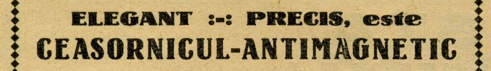 reclama Romania | Tissot Antimagnetic | F. Scherer - 1939