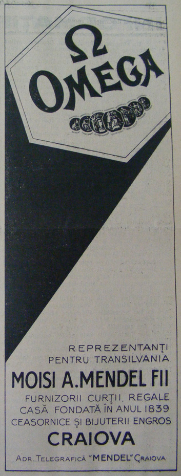 reclama Moisi A. Mendel | Omega | 1930