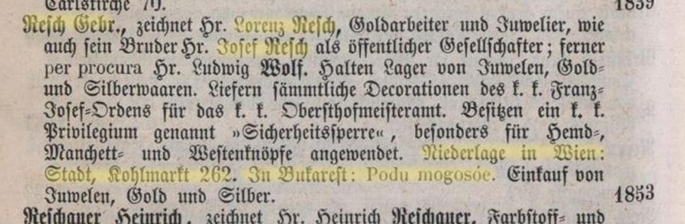 coordonate Gebruder Resch - Fratii Resch | Austria - Romania