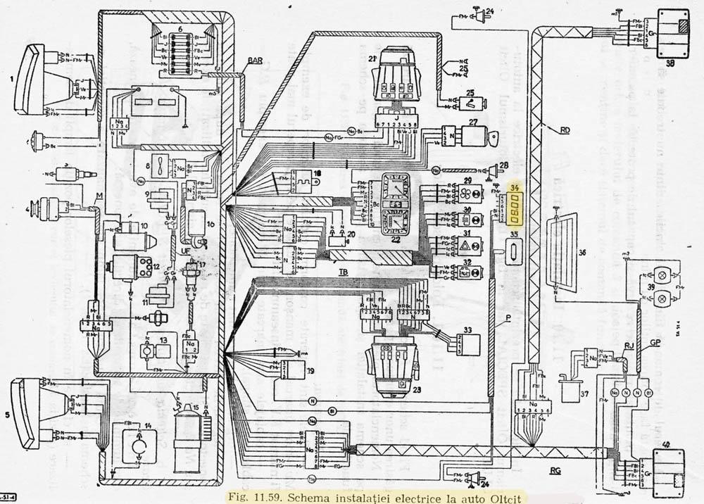 schema electrica Oltcit